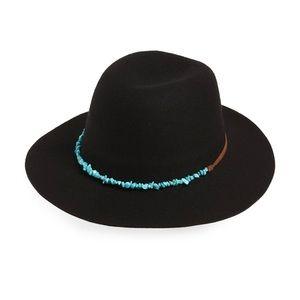 Frye Turquoise Belt Wool Felt Hat